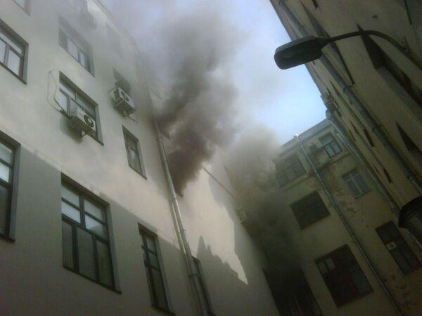 Пожар по адресу Тверская застава, 3