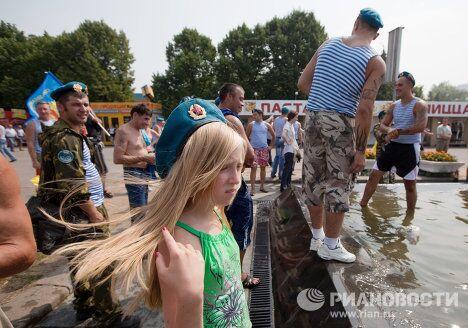 Празднование Дня Воздушно-десантных войск в Москве