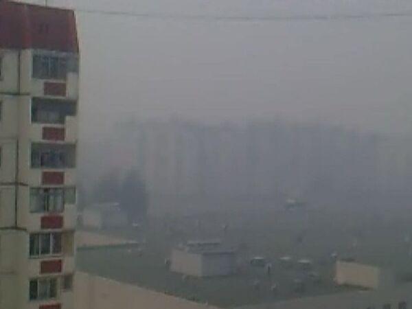 За полчаса Липецк заволокло дымом