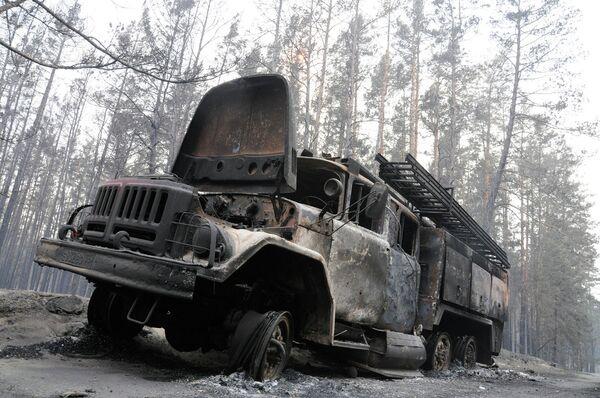 Пожар в поселке Масловка Левобережного района города Воронежа