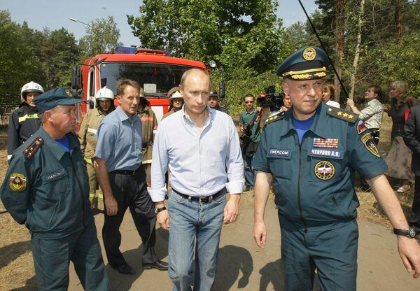 Премьер-министр РФ Владимир Путин посетил больницу на окраине Воронежа