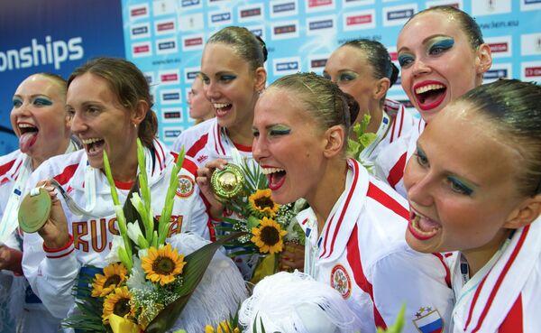 Чемпионат Европы по водным видам спорта в Венгрии. Синхронное плавание