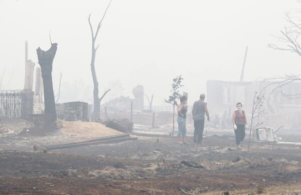Последствия пожаров в городе Выксе