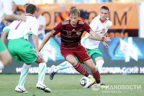 Игровой момат матча Россия - Болгария