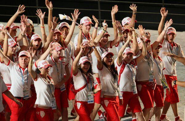 Церемония открытия первых летних юношеских Олимпийских игр в Сингапуре