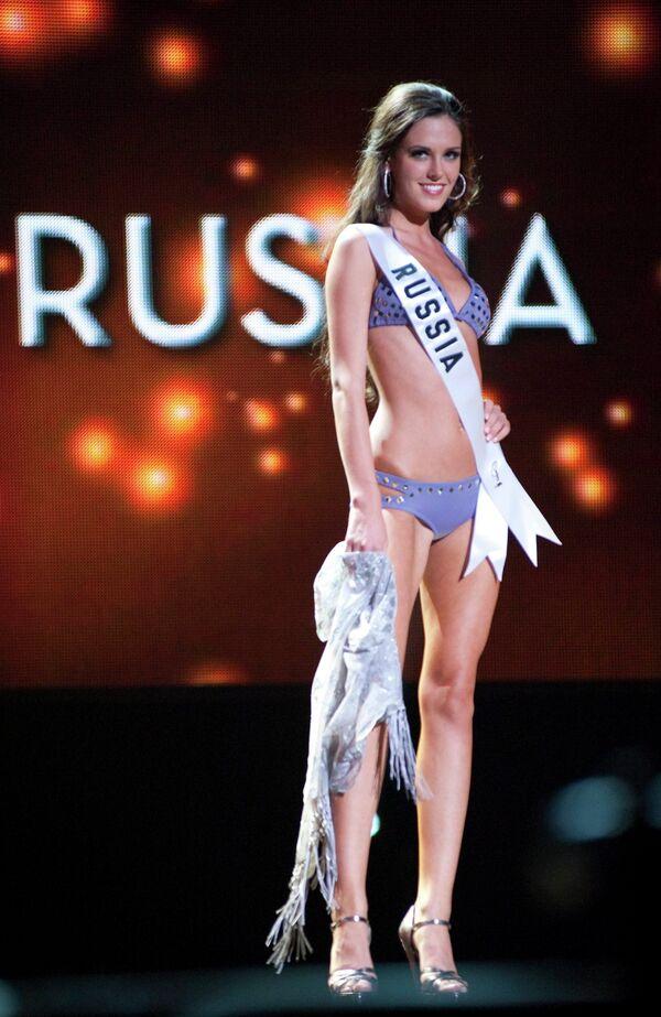 Участница конкурса красоты Мисс Вселенная-2010 Ирина Антоненко из России в Лас-Вегасе