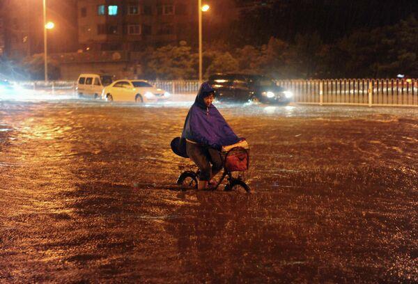 Наводнение в провинции Ляонин на северо-востоке Китая