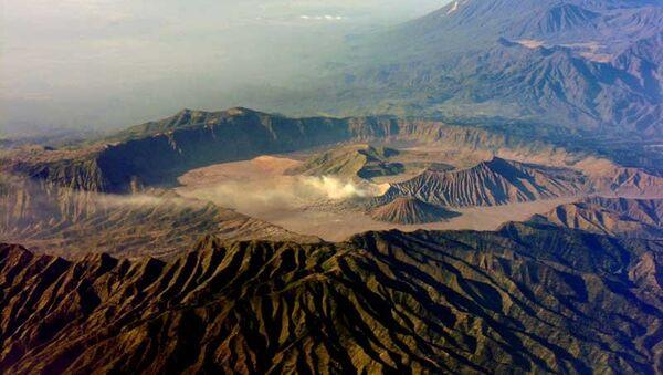 Вулкан Бромо на острове Ява в Индонезии