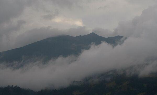 Извержение вулкана Галерас в Колумбии 26.08.2010