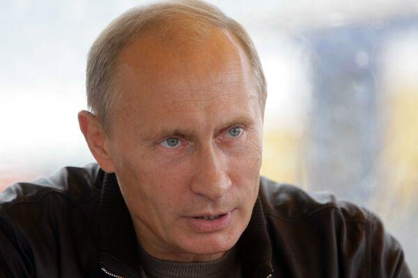 Премьер-министр РФ Владимир Путин во время поездки в Сибирский и Дальневосточный федеральные округа