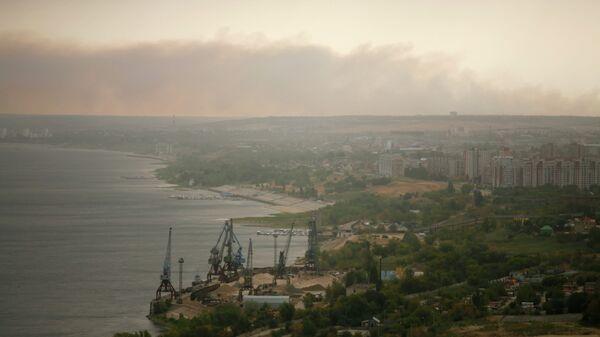 Пыльная буря над Волгоградом
