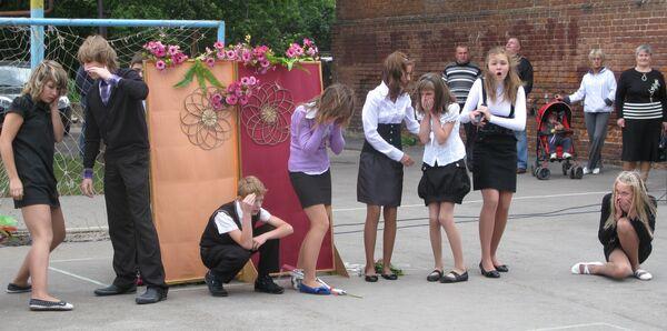 Инсценировка теракта в Беслане рязанскими школьниками