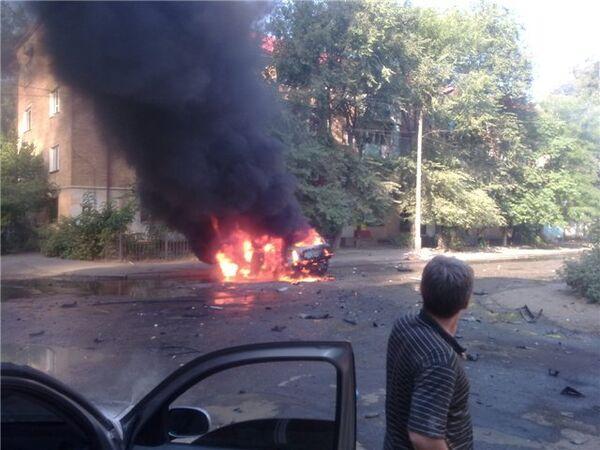Взрыв автомобиля в Махачкале