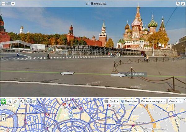 Страница сервиса Яндекс.Панорама