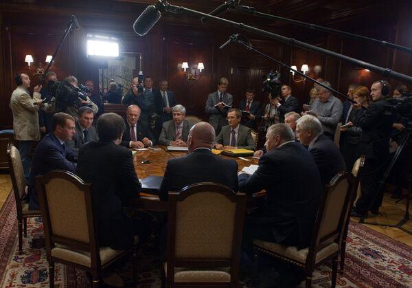 Встреча Дмитрия Медведева с руководителями парламентских партий