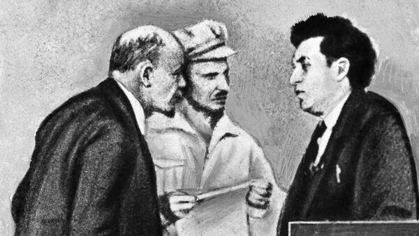 Ленин, Бухарин, Зиновьев в дни работы когресса Коминтерна
