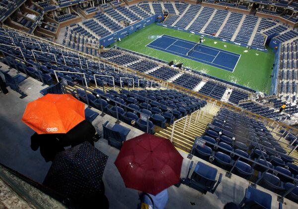Финальный матч US Open приостановлен из-за дождя