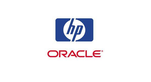 Логотипы компаний Oracle и Hewlett-Packard