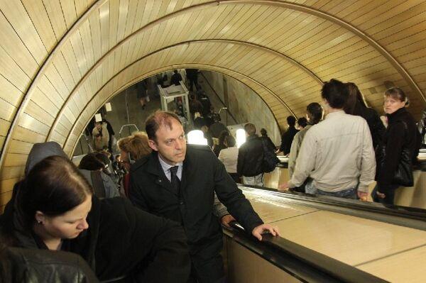 Олег Митволь проехал в метро