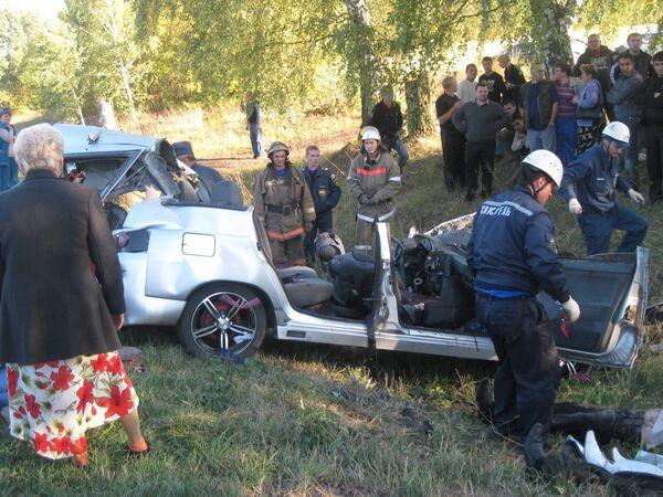 ДТП со свадебным кортежем в Орловской области