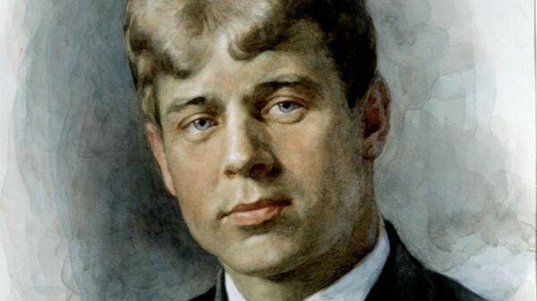 Портрет русского поэта Сергея Александровича Есенина
