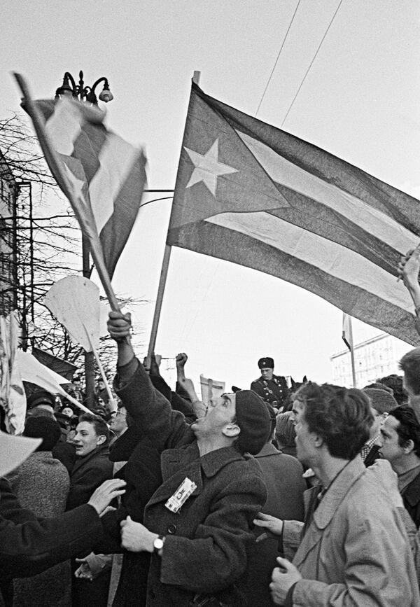 Митинг в защиту Кубы