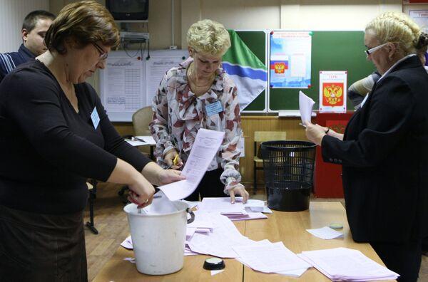 Подсчет голосов после выборов 10 октября