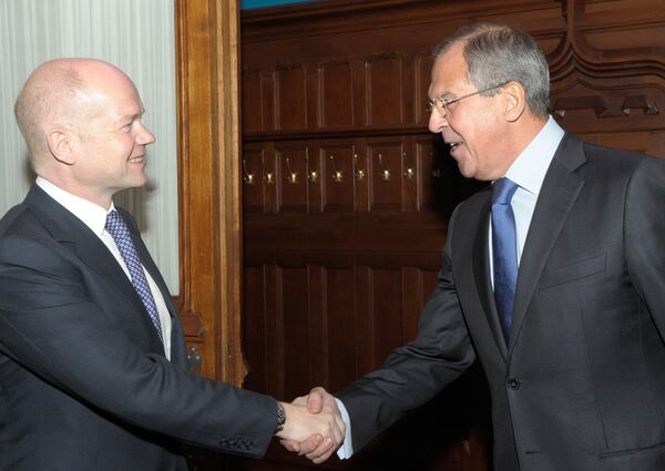 Встреча глав МИД России и Великобритании С.Лаврова и У.Хейга