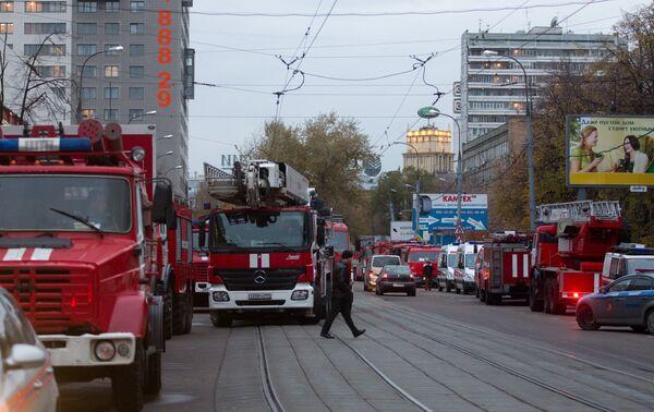 Пожар в общежитии в Москве