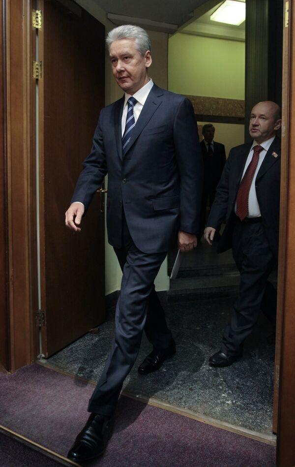 Заседание фракции Единая Россия с участием Сергея Собянина в МГД