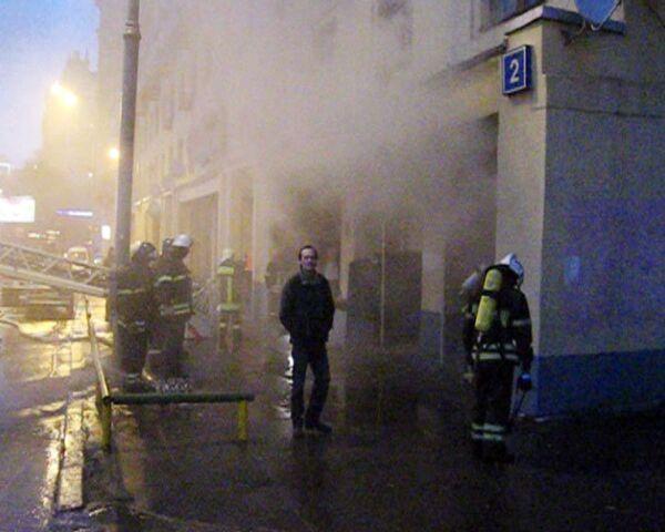 Пожар в сауне на Смоленской набережной в Москве