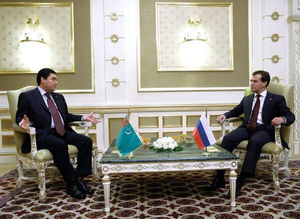 Встреча Дмитрия Медведева и Гурбангулы Бердымухамедова