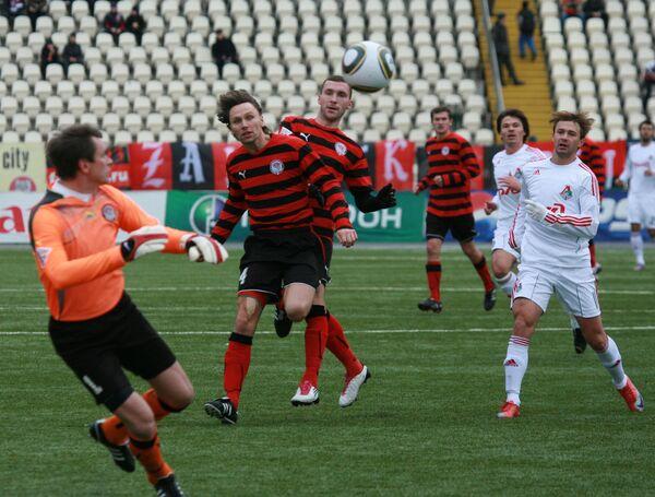 Игровой момент матча Амкар - Локомотив
