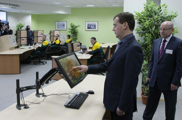 Дмитрий Медведев принял участие участие в церемонии запуска первой установки нефтеперерабатывающего комплекса ТАНЕКО.