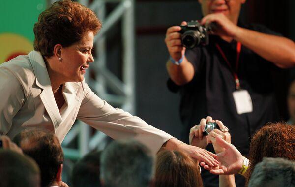 Первая женщина-президент Бразилии Дилма Русефф