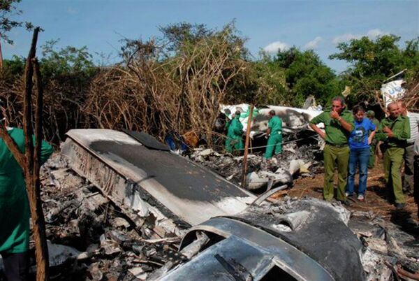 На месте крушения самолета авиакомпании Aerocaribbean на Кубе