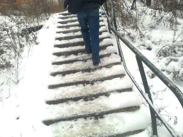 Первый снег и гололед во Владивостоке