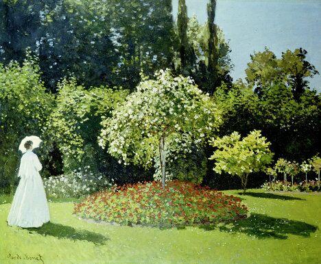 Картина Дама в саду