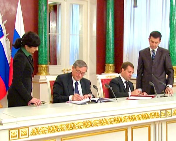 Медведев позвал словенцев в Сколково