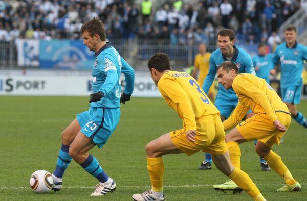 Игровой момент матча Зенит - Ростов