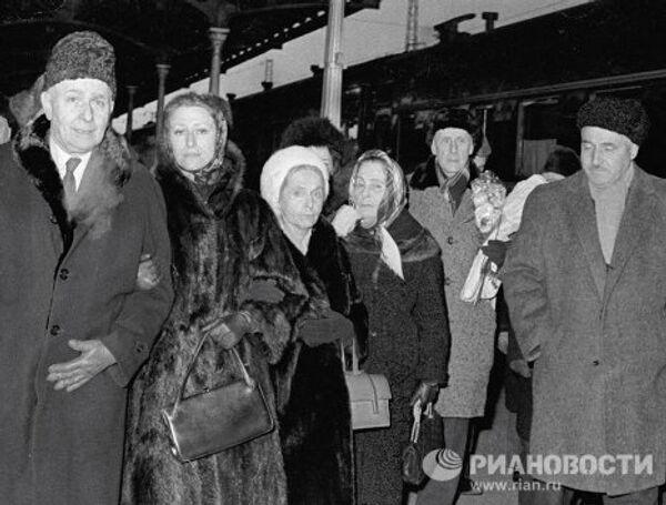 Луи Арагон, Майя Плисецкая, Эльза Триоле и Константин Симонов