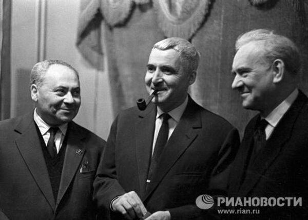 Свердлин, Симонов и Царев в Доме актера