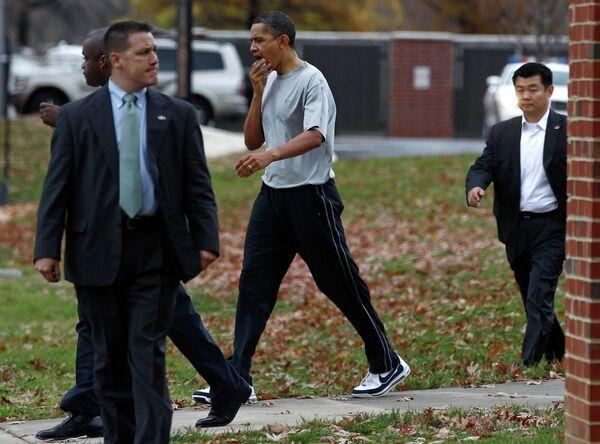 Обама разбил губу, играя в баскетбол после Дня благодарения
