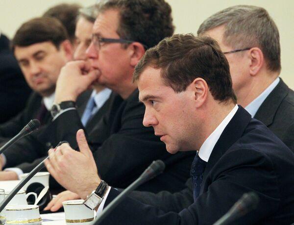 Президент РФ Д.Медведев на переговорах с президентом Польши в Варшаве
