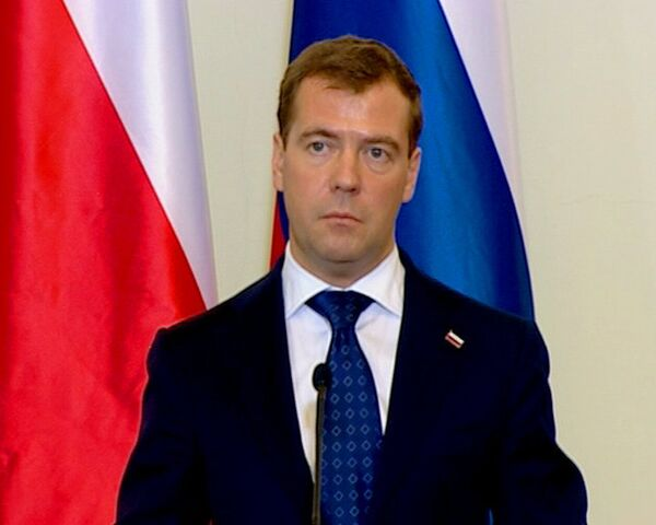 Медведев в Польше заявил о продолжении расчистки наследия прошлого