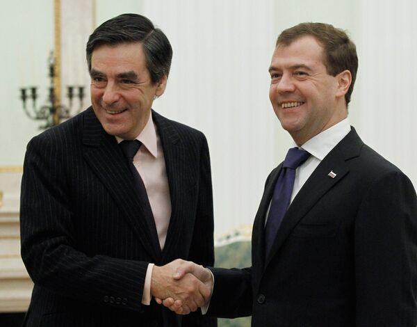 Встреча Дмитрия Медведева и Франсуа Фийона