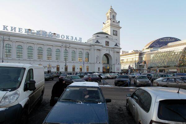 Площадь Европы у Киевского вокзала в Москве. Архив