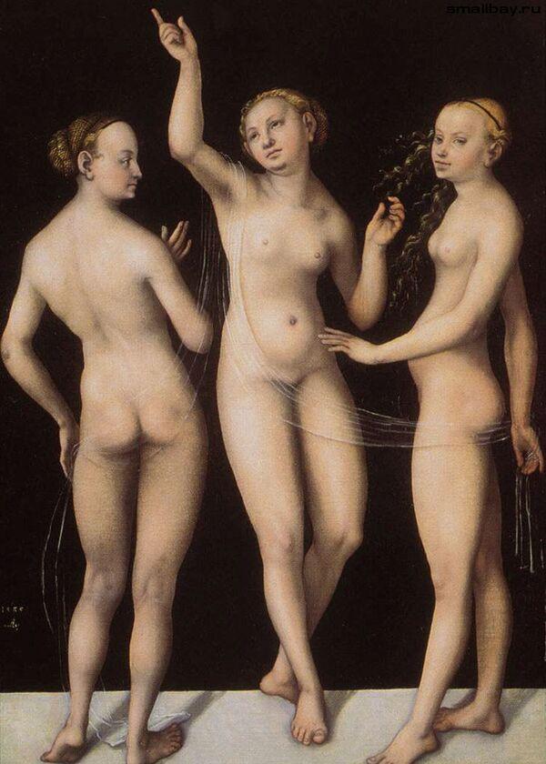 Картина Три Грации работы немецкого живописца Лукаса Кранаха