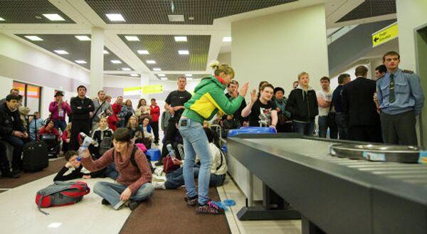 Акция протеста пассажиров в аэропорту Шереметьево
