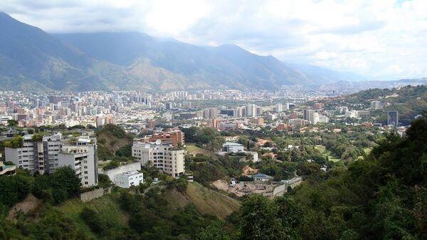 Вид на Каракас, столицу Венесуэлы